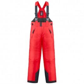 Boys ski bib pants scarlet red