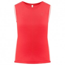 Womens knit top spritz red/ angel pink