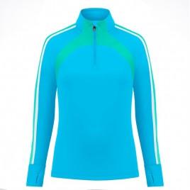 Womens 1st layer sweater aqua blue/multi