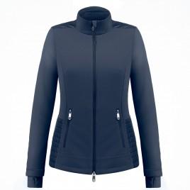 Womens hybrid fleece jacket Gothic Blue3