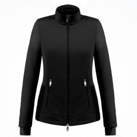 Womens hybrid fleece jacket Black