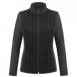 Womens hybrid stretch fleece jacket Black