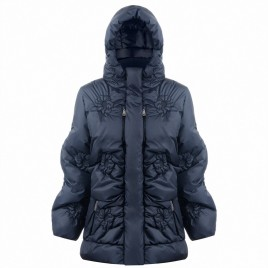 Womens oversize down jacket gothic blue
