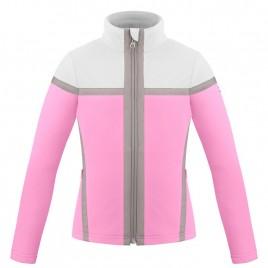 Girls fleece jacket fever pink/white