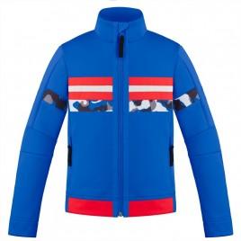 Boys graphic fleece jacket  true blue/camou multi
