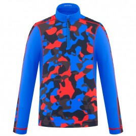 Boys base layer red camou/multi with zip