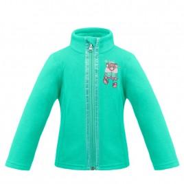 Girls fleece jacket emerald green