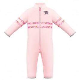 Girls fleece overall angel pink