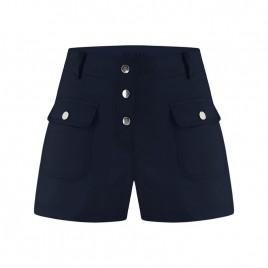 Womens blue cotton shorts