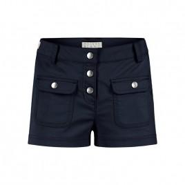 Girls cotton shorts oxford blue