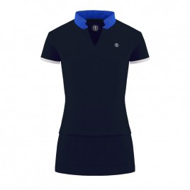 Girls cotton blue polo dress