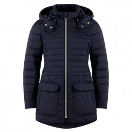 Girls blue quilted coat