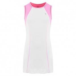 Girls dress white/bubble pink
