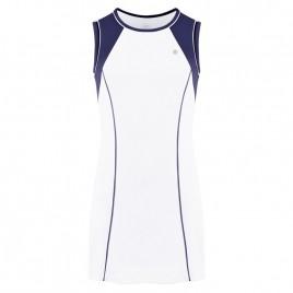 Girls dress white/oxford blue