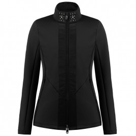 Womens black stretch fleece jacket