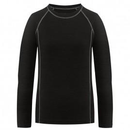 Womens merino shirt black