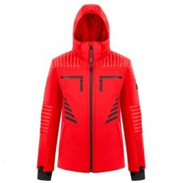 Mens stretch jacket scarlet red