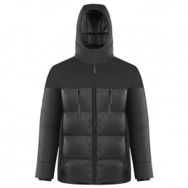 Mens black synthetic down jacket