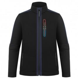 Mens black stretch fleece jacket