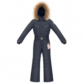 Girls overall gothic blue with fake fur
