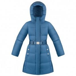 Girls down coat twilight blue