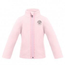 Girls fleece jacket angel pink