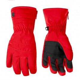 Girls scarlet red gloves