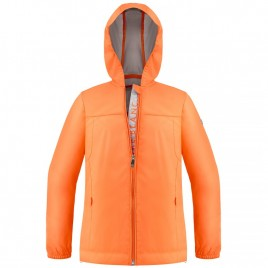 Womens rain jacket silver indian orange