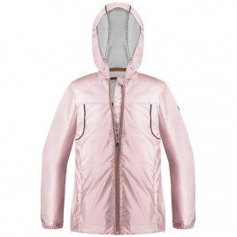Womens rain jacket glossy glow pink