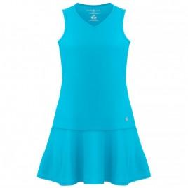 Womens eco light creamy blue dress