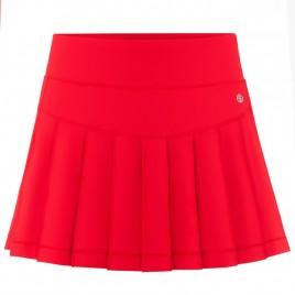 Womens skort cherry red