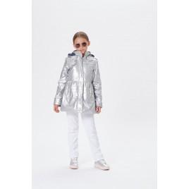 Girls glossy 3in1 coat glow grey