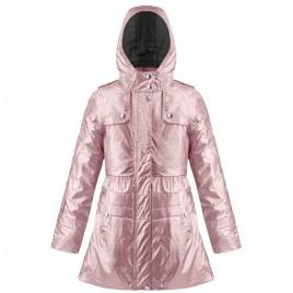 Girls coat 3in1 glossy glow pink