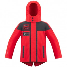 Boys 3-in-1 parka cherry red/ carbone grey