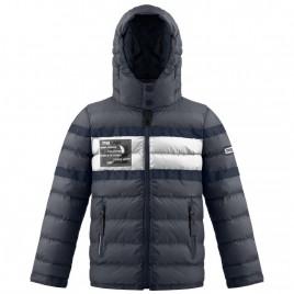 Boys padded jacket carbone grey/glow grey