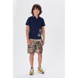 Boys cotton polo shirt oxford blue