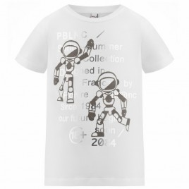 S21-4410-JRBY T-SHIRT white/carbone grey 8 years
