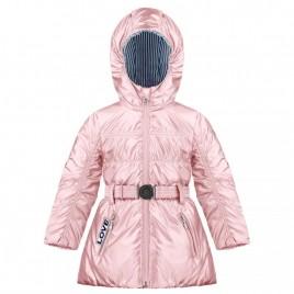 Girls glossy padded coat glow pink