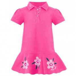 Girls cotton polo dress lady pink