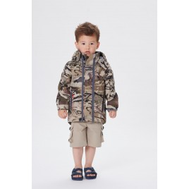 Boys 3-in-1 parka camouflage gold