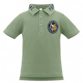 Boys cotton polo shirt peacock green