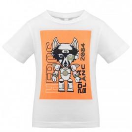 S21-4410-BBBY T-SHIRT white/indian orange 2 years
