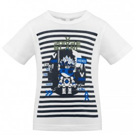 S21-4411-BBBY T-SHIRT white/oxford blue 2 2 years