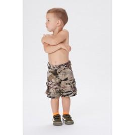 Boys shorts camou gold